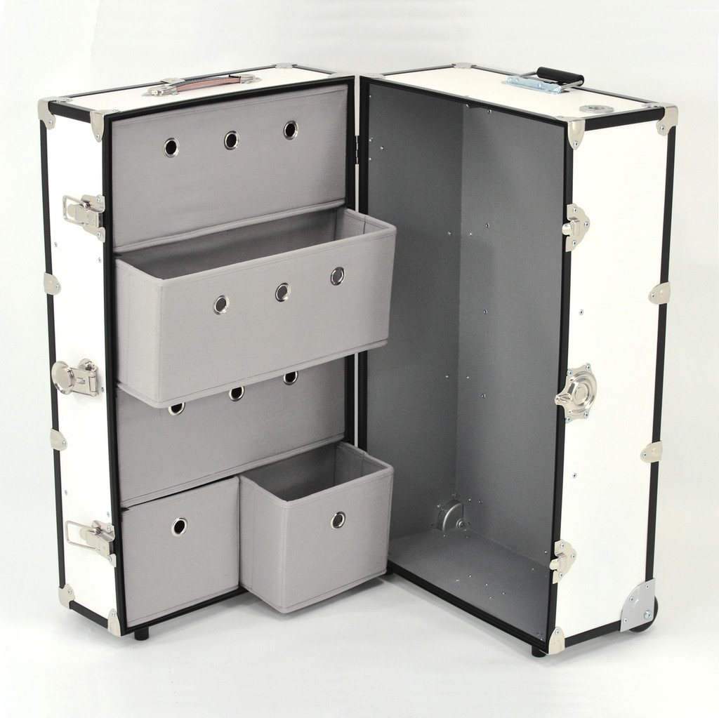 Rhino Dance Star Wardrobe Trunk drawers open.