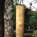 6 ft Round wooden tree stake
