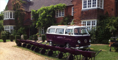 Wheelbarrows and Camper Van