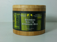 Round Bamboo Salt Box