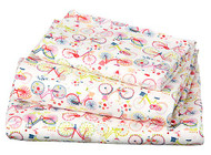 Cot Sheet Set Knit Bicycle