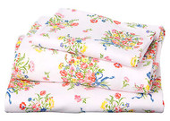 Cot Sheet Set Knit Bouquet