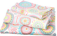 Cot Sheet Set Knit Disco