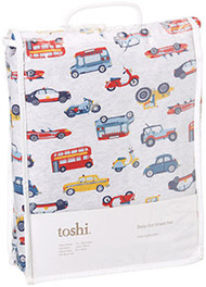 Cot Sheet Set Knit Vroom Vroom