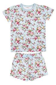Pyjamas Short Sleeve Primrose Aqua