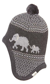 Earmuff Elephant Charcoal
