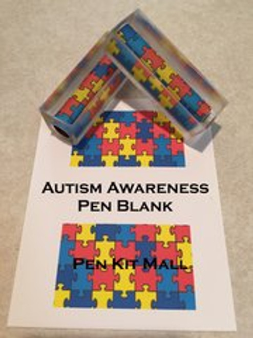 Autism Awareness Acrylic Pen Blank