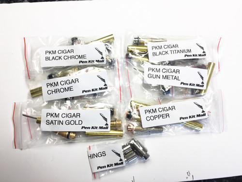 6 assorted Cigar Pen Kits with Bushings ( Free Shipping