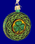 "Celtic Brooch Glass Ornament, 3 1/4"", OWC #36116"