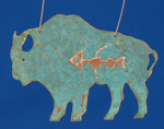 "Buffalo Copper Ornament, 4 3/4"", Made in USA #DD3725"