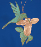 "Hummingbird Copper Ornament, 6 1/4"", Made in USA #DD3732"