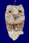 "Buri Bristle Winter Bird Owl Ornament, 3 3/4"", #JWKA4237"