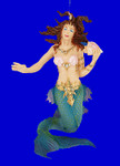 "Mythical Mermaid Ornament, 4"", break resistant #SL4471"