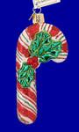 "Glistening Candy Cane Glass Ornament, 4 5/8"", OWC #36150"