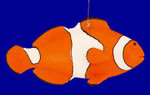 "Clown Fish Ornament, 4 3/4"", break resistant #SL261829"