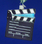 "Film - Movie Director's Board Glass Ornament, 3 1/2"", OWC #36111"