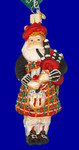 "Scottish Highland Bagpipes Player Glass Ornament , 5 1/2"", OWC #40139"