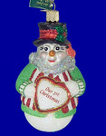 "Snowman Our First Christmas Glass Ornament, 4 1/2"", OWC #24120"