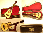 "Mini Folk Guitar Gift Set, 3 pc - 4 3/4"" Guitar Small #HI602"