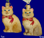 "Himalayan Cat Glass Ornament - , 3 1/2"", OWC #12089"