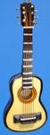 "Mini Folk Guitar Ornament - Wood, 4"" Small #HI579"