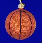 "Basketball Glass Ornament, 3 1/4"", OWC #44010"