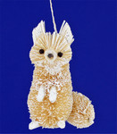White Bristle Brush Buri Animal Fox Ornament