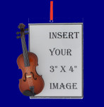 Picture Frame Violin Gift Christmas Ornament