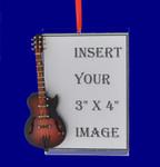 "Gibson Guitar Picture Frame Ornament 4 3/8"" #BG7945"