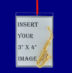 Saxophone Picture Frame Ornament