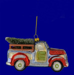 Classic Truck Ornament with Tree
