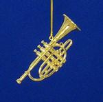 "Mini Cornet Ornament - Gold Metal, 2 3/4"" Medium #BG2338"