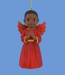 African American Little Boy Angel Ornament