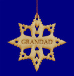 Laser Wood Grandad Ornament