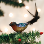 "Barn Swallow Clip On Bird Glass Ornament, 7 1/4"", OWC # 18126"