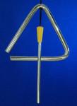 "Mini Triangle Ornament, Silver Metal, 3 3/4"" Long #BG2340"