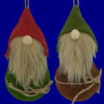 Fabric Roly Poly Gnome Doll Ornaments