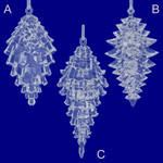 """Clear Acrylic Pinecone Ornament, """", ST2275440"""