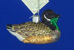 """Canadian Goose Glass Ornament, 2 1/2"""" x 3 1/2"""", OWC #16065"""