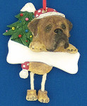 "Personalized Bullmastiff Ornament, 4 5/8"", #EI35356-79"