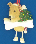 "Personalized Greyhound Ornament, Fawn, 4 5/8"", #EI35356-93"