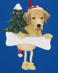 "Personalized Yellow Labrador Retriever  Ornament, 4 3/4"", #EI35356-20"