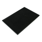 "PLASTIC BAR SERVICING MAT 12"" X 18"", BLACK"