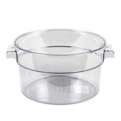 2 QT ROUND FOOD STORAGE CONTAINER, PC, CLEAR