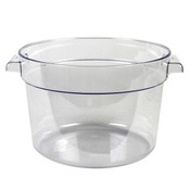 12 QT ROUND FOOD STORAGE CONTAINER, PC, CLEAR