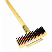 "27"" HEAVY DUTY WIRE BRUSH WITH SCRAPER & LONG WOOD HANDLE"
