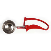 1 1/3 OZ  DISHER, #24 RED, EASY GRIP HANDLE