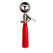1 1/3 OZ  DISHER, #24 RED, TRIANGLE HANDLE
