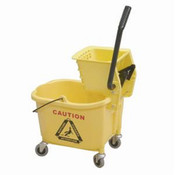 36 QT BUCKET WITH WRINGER, YELLOW COLOR, PP