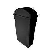 TRASH CAN, 23 GALLON, BLACK, PLASTICS
